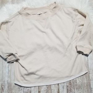 Umgee oversized cream sweatshirt